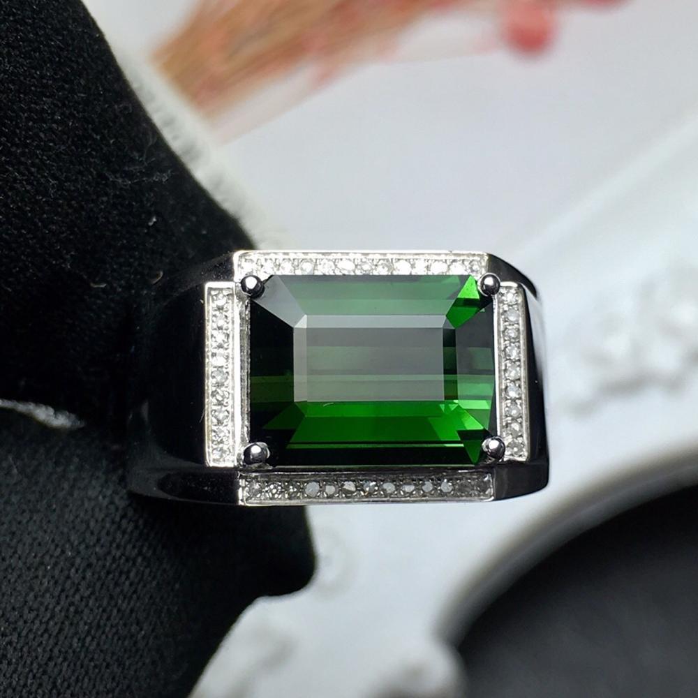d9b89c746c7c Bien joyería pura de joyas de oro de 18 K 100% Natural turmalina verde