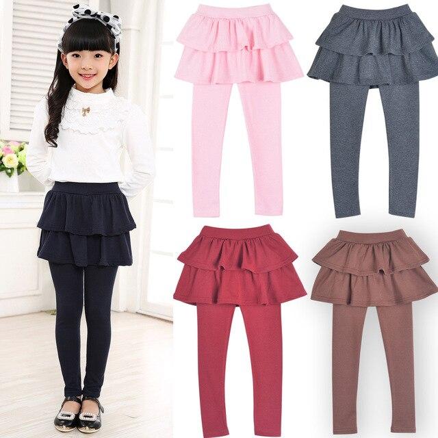 Autumn Girls Childrenu0026#39;s kids Skirt pants bootcut pants for baby Girls cake tutu Skirt pants ...
