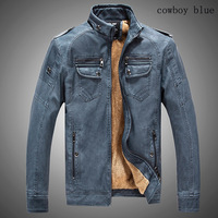 ¡ Caliente! alta calidad nueva moda de invierno capa de los hombres, hombres chaquetas gruesas, chaqueta de cuero de los hombres envío gratis tamaño M-XXXL 5 Colores