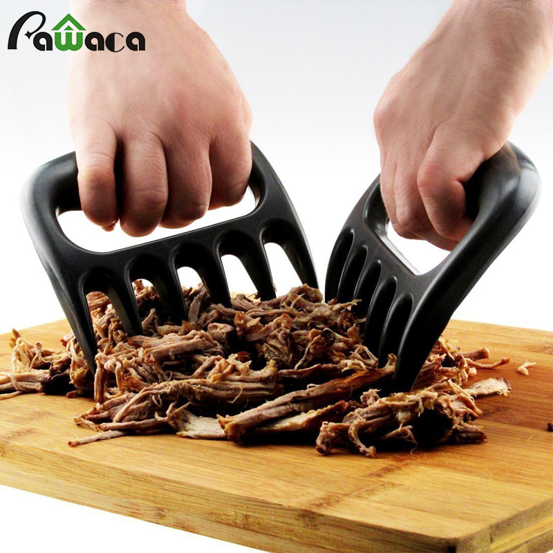 2 pcs New Bear Barbecue Meat Forks/Claws for Shredding Pork Beef Barbecue bbq Cooking Grill Everything Kitchen Accessories
