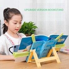 Портативная подставка для чтения, рамка для чтения, Одноручная откидная настольная книжная полка для чтения, складная папка, Детские канцелярские принадлежности
