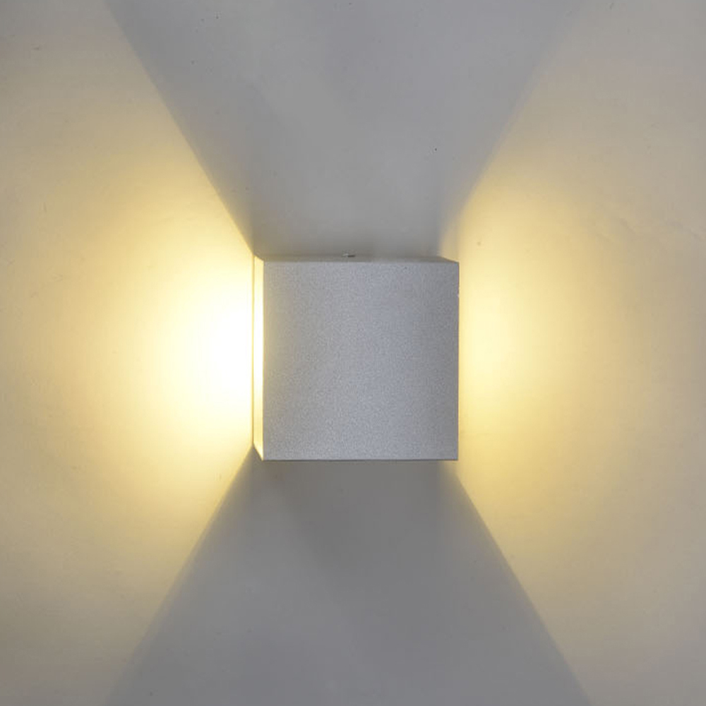 Led Lamps Modern Mini-cube Cob Led Wall Lamp Lampada 85-265v 6x6x6cm Aluminum Wall Lights Hallway Porch Bedroom Sconce Decoration Light Diversified In Packaging