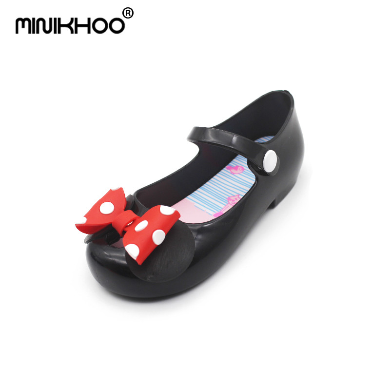 Mini Melissa Mickey Minnie Bow Jelly Sandals 2018 New Children Sandals Butterfly Children Shoes Cute Shoes Girl Princess Sandals