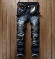 Ripped Slim Fit Hip Hop Denim Men S Jeans High Quality Motorcycle Pants Punk Homme 2018