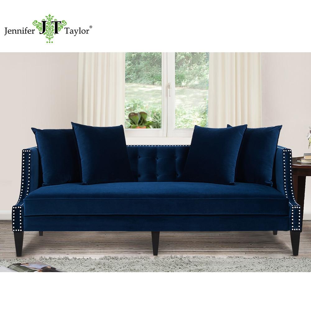 Jennifer Taylor Caroline Navy Blue Sofa 82 W X 35 1 2 D X
