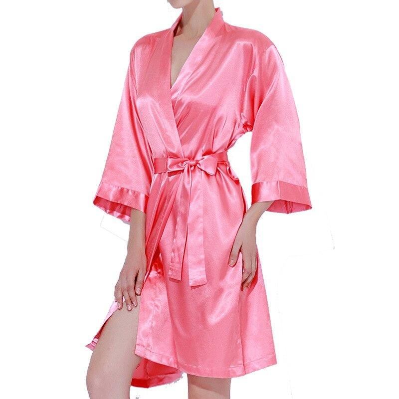 705fc106 Bata rosa kimono personalizado satén pijamas boda bata dama de honor  hermana Madre de la novia ...