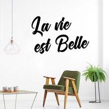 DIY Art life is Beautiful Wall Decal Sticker Murals Pvc Decals Living Room Bedroom naklejki
