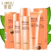 Snail Extract Skin Care Cosmetic Set Women Face Whitening Anti-wrinkle Anti Aging Hydrating Moisturizing Product 3pcs/lot
