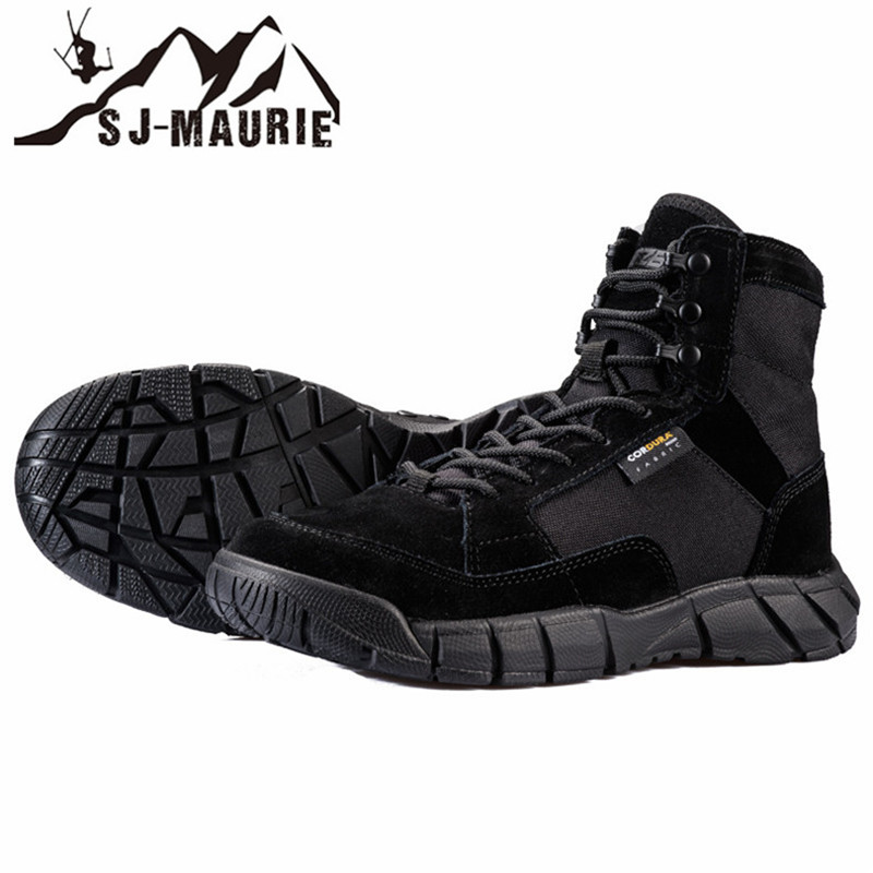 SJ MAURIE Hiking Climbing Shoes Professional Waterproof Hiking Boots Tactical Boots Outdoor Mountain Climbing Sports Sneakers