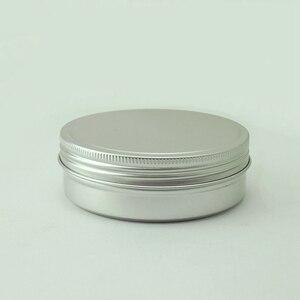 Image 3 - Sedorate 20 teile/los 250 ML Aluminium Runde Gläser Auto Wachs Haar wachs Seife Lebensmittel Mondkuchen Lagerung Gewinde Aluminium Glas Fällen MC1350