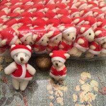 Крошечные 4 см-6,5 см маленькие аксессуары медведь куклы-Рождественские медведи плюшевые мягкие игрушки, маленькие украшения плюшевые игрушки куклы