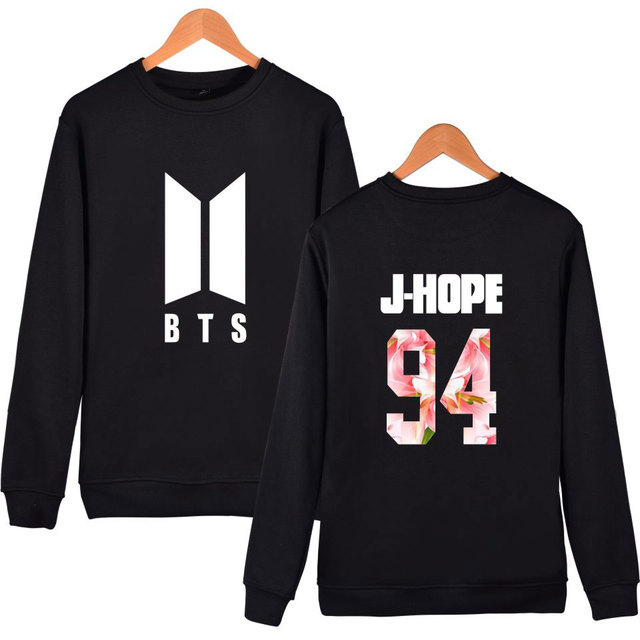 BTS (Bangtan Boys) Band Member Flower Print Pullover Sweater