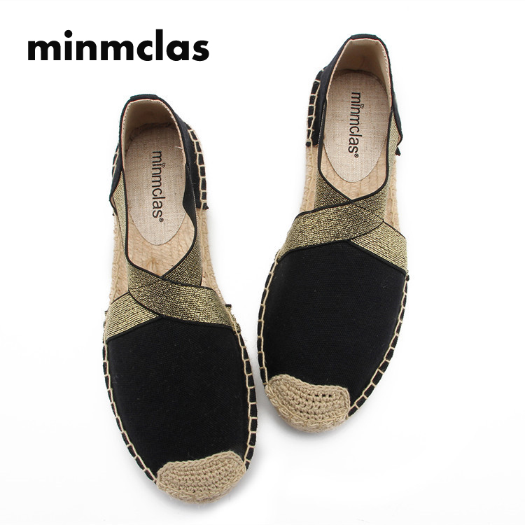 2019 New Alpargatas espadrilles Cartoon Comfortable Slip on Womens Casual slippers Breathable Flax Hemp Canvas for