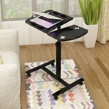 BSDT with simple household mobile rotary bedside table Yi Amoy lazy notebook Comter desk on bed FREE SHIPPING