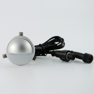 Image 3 - 6 יחידות חצי ירח Led תחתית אור חיצוני תאורת הגינה פאטיו אור שלב סיפון נתיב הפארק שקוע מנורת רצפה