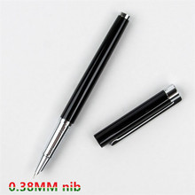Free Shipping Parker matte black bars gold clip fountain pen parker im gold clip fountain pen wholesale silver pen fountain pen 760 gold black lea clip iridium fountain pen damings pen