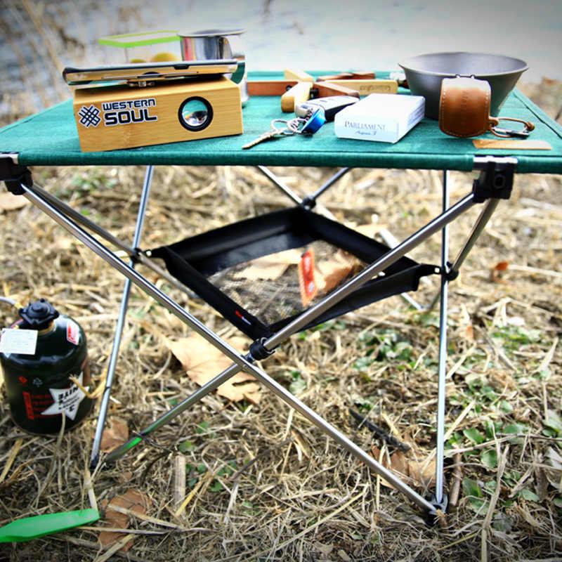 Almacenamiento de mesa plegable al aire libre cesta colgante estante salvaje bolsa de Camping Red de acabado