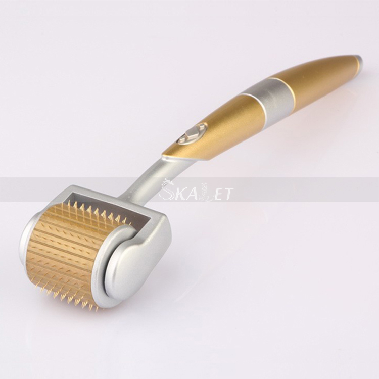 Professional Titanium Derma Roller 192 Needles For Acne Scar Freckle And Hair-loss Treatment CE Certificate Proved
