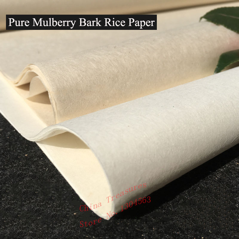 10 Sheets/lot,Very Thin Pure Mulberry Bark Paper,Chinese Rice Paper Calligrpahy Painting Xuan Paper Handmade Xuan Zhi Semi-raw