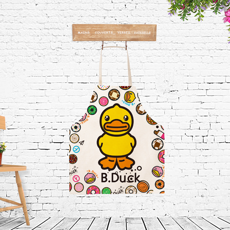 Cooking Apron Funny Novelty Duck Antifouling BBQ Party Apron Naked Mens Women Kitchen Cooking Apron Delantal