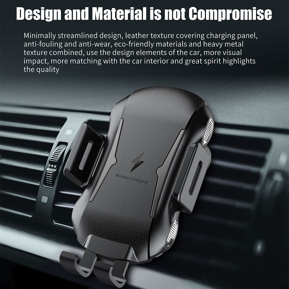 10W Wireless Car Charger Automatic Clamping Fast Charging Phone Holder Mount in Car for iPhone XR Huawei Samsung Smart Phone in Car Chargers from Cellphones Telecommunications