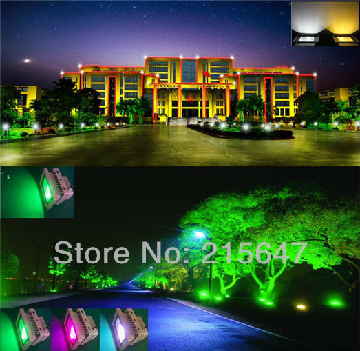 Free shipping+ Ali-express 2pcs/lot outdoor 12v low voltage RGB LED Flood  light - Free Shipping+ Ali Express 2pcs/lot Outdoor 12v Low Voltage RGB LED