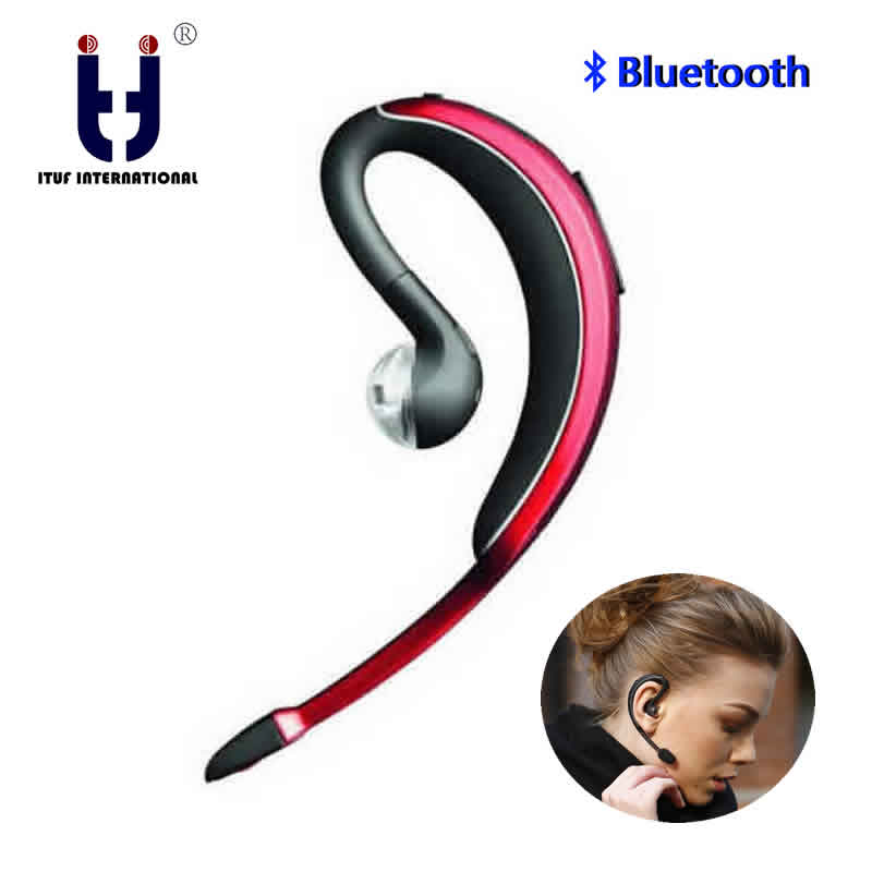 Brand ITUF Single Ear Hook Bluetooth Earphone Headphone Handsfree Mic Microphone for Phone Car Driver Wireless Business Headset lymoc v8s business bluetooth headset wireless earphone car bluetooth v4 1 phone handsfree mic music for iphone xiaomi samsung
