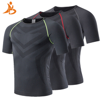 YD 2017 Men Quick Dry Running Sportswear Bodybuilding Shirt Fitness Tight Jersay Compression Short Sleeve Gym