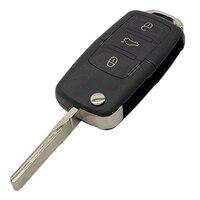 remote key WhatsKey Folding Key 2/3 Button Remote Flip Key Shell Case Fob For Volkswagen B5 Golf Polo Passat Bora MK4 Seat Leon ibiza (2)