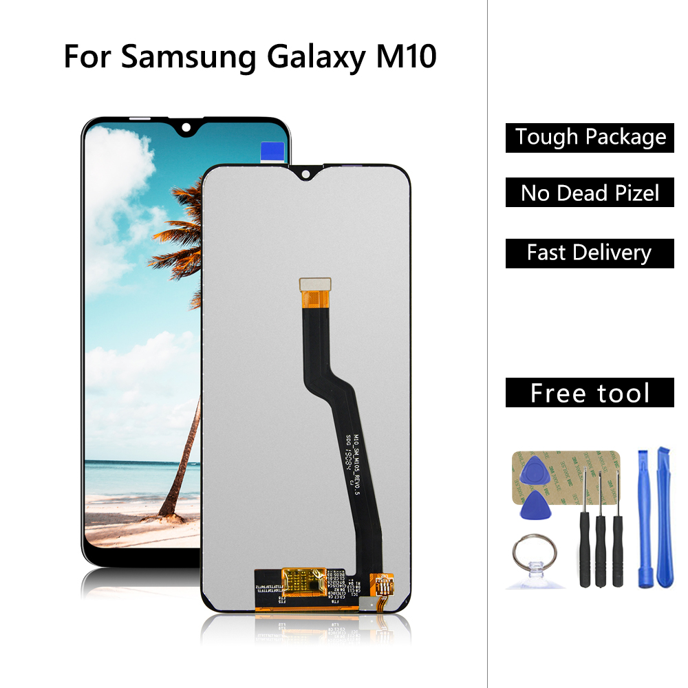 AMOLED Original <font><b>LCD</b></font> For <font><b>Samsung</b></font>-Galaxy <font><b>M10</b></font> 2019 SM-105 M105F M105DS <font><b>LCD</b></font> Display Touch <font><b>Screen</b></font> Digitizer Assembly For <font><b>m10</b></font> <font><b>lcd</b></font> image