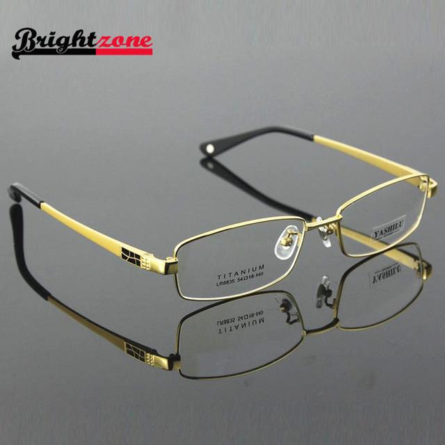 Cheio rim pure titanium óculos de armação óculos de armação dos óculos de prescrição dos homens tamanho 54-18-140