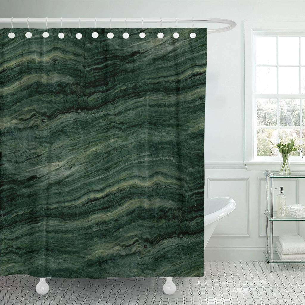 Us 17 06 36 Off Shower Curtain With Hooks Stone Green Marble Abstract Modern Emerald Onyx Rock Wall Agate Bright Decorative Bathroom In Shower