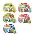 Nieuwe 5 stks/set Baby Servies Bamboevezel Kinderen Servies Set Plaat Gerechten Kom Met Lepel Cartoon Voeden Set Voedsel Container