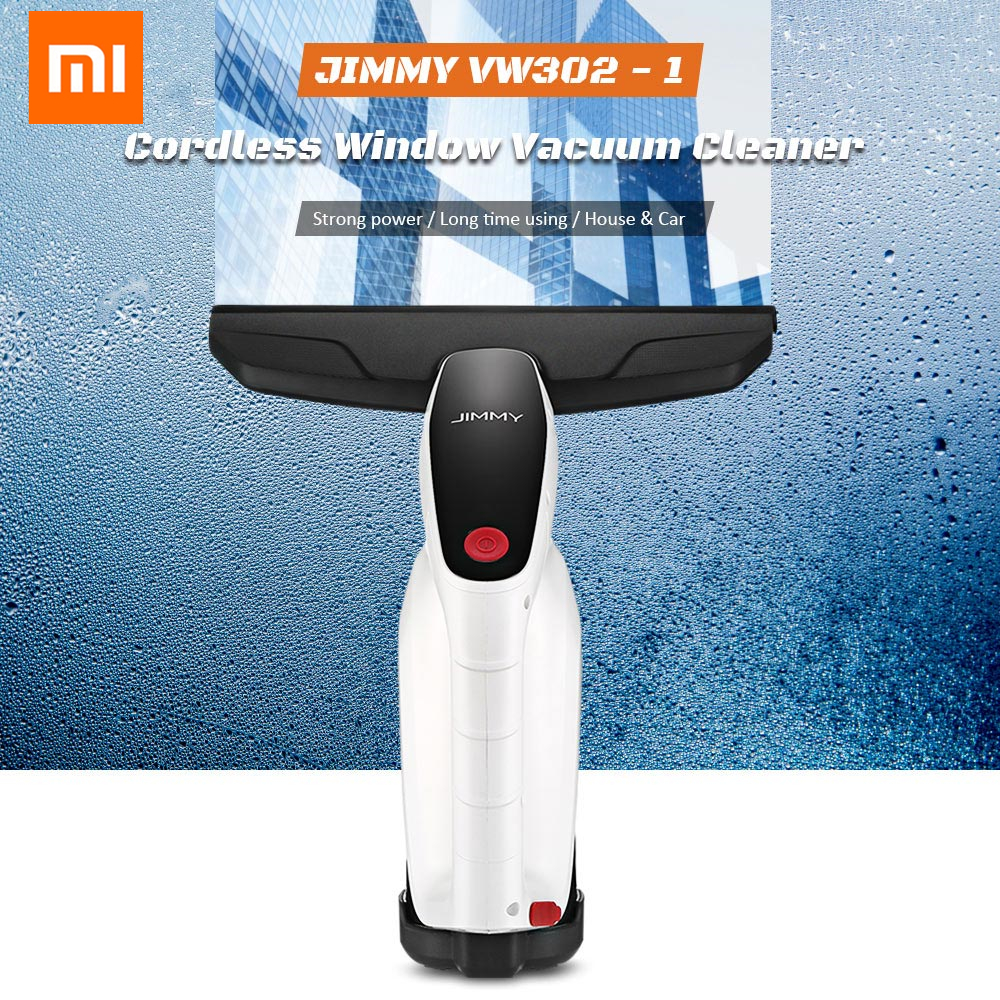 Original XIAOMI JIMMY VW302-1 Cordless Window Glass Vacuum Cleaner With Squeegee Spray Bottle 100ml Water Tank For House CarOriginal XIAOMI JIMMY VW302-1 Cordless Window Glass Vacuum Cleaner With Squeegee Spray Bottle 100ml Water Tank For House Car