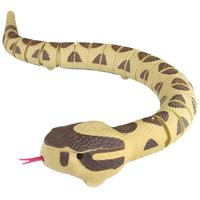 77cm Electric RC Snake Infrared Control Remote Rattlesnake Toy Prank Toys Halloween Horror Funny Gadgets Yellow
