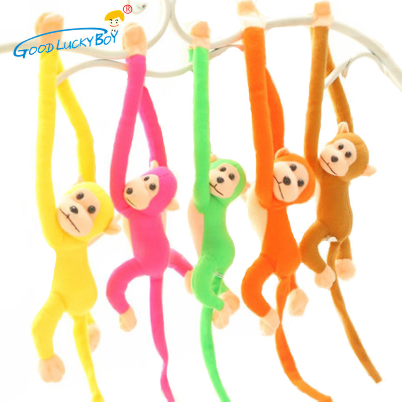 60cm Cute Doll Long Arm Monkey Tail Stuffed Animal Plush Toys Appease Baby Curtains Monkey Toys Gifts For Children Kids