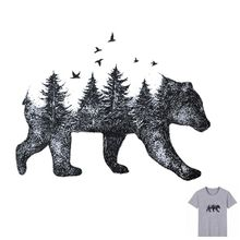 Buy 19x14cm Forest Bear Parche Iron On Stickers Washable Appliques A-level Patches Heat Transfer For DIY Accessory Clothes Bag directly from merchant!
