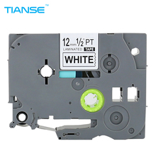 TIANSE Label Maker 1pcs Brother TZe 231 Black on White Tape for TZ-231 p-touch 12mm x 8M tz Ptouch printer ribbon