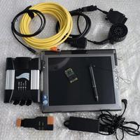 Для bmw диагностический сканер для bmw icom рядом с ноутбук Tablet PC LE1700 touch 4 г с программным обеспечением супер ssd эксперт режим полный