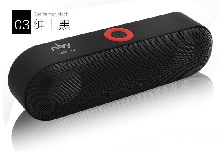 Mini NBY-18 Blutooth Altoparlante 3D Surround Stereo Subwoofer HIFI Senza Fili Portatile di Altoparlanti Stereo Portatile di Musica di Bluetooth Ricevitore