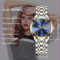 WISHDOIT Luxury Fashion Casual Quartz Watch Stainless Steel Bracelet Watches Women Wristwatches Relogio Feminino Reloj Mujer