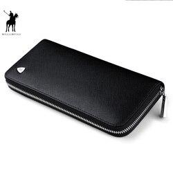 WILLIAMPOLO Новая мода Мужчины Длинный кошелек натуральная кожа кошелек сумки для мужчин люксовый бренд молния мужчины клатчи pl119