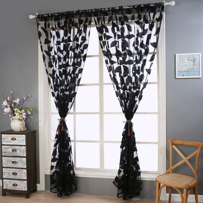 hojas de tela de tul cortinas cortinas para la sala de estar dormitorio cocina persianas