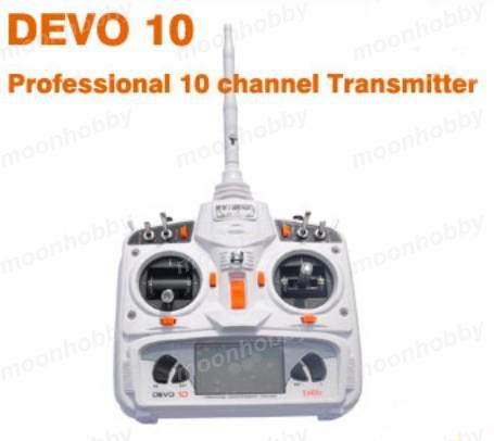 Walkera Devo 10 white 2.4Ghz 10Ch Walkera Radio with RX1002 Receiver free shipping with tracking
