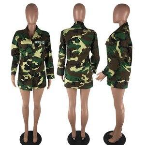Image 5 - נשים הסוואה צבאית חמה מדים ירוקים ארוך מעיל רופף מזדמן יומי צבא קרב ג ונגל בגד ME Q045