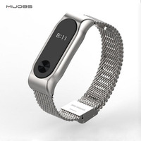 Metal Strap For Xiaomi Mi Band 2 Strap Stainless Steel Bracelet Smart Band Replace Accessories For