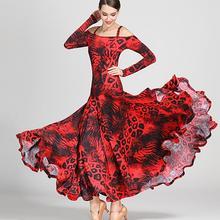 99d7ed670 black print ballroom waltz dress rumba Standard social dress Ballroom dance  competition dress fringe modern dance