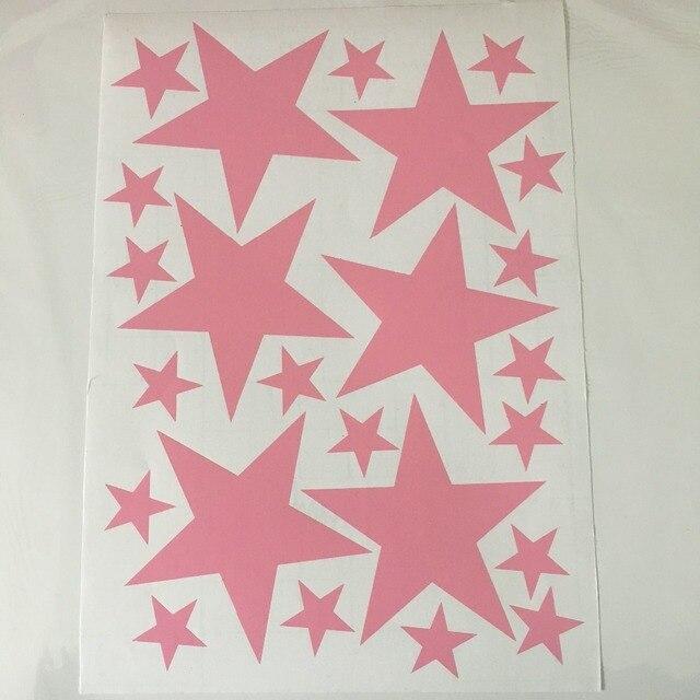 Black Stars 39pcs 3-5cm 10