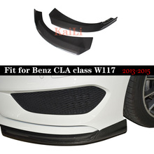 For Mercedes-benz CLA45 Carbon Front Lip Bumper Splitter CLA W117 Rear Bumper Canard Splitter Trim 2013 2014 2015 цена
