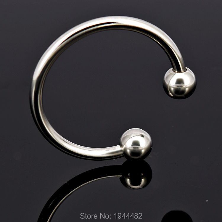 Men Penis Delay Ring Stainless Steel Cock Ring Cockring Glans Jewelry Two Beads Penis Delay Ejaculation Ring Sex Toys, 2pcs
